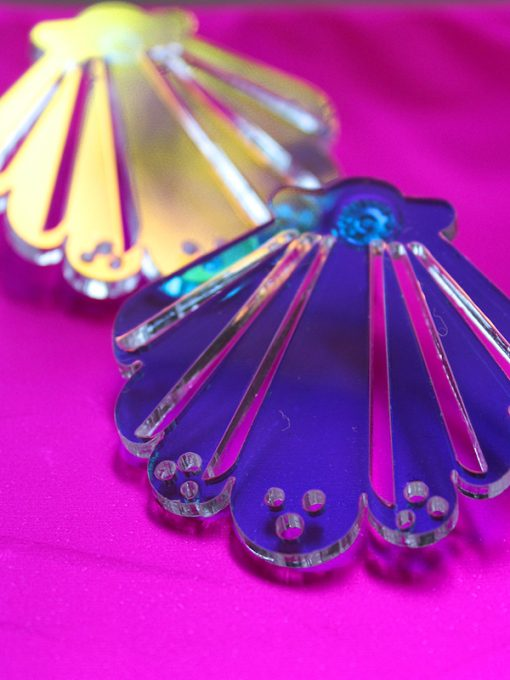 changerne muslingeskaller i unicorn plexiglas
