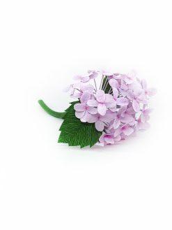 Evighedsblomst af lilla hortensia lavet i papir meget evighedstro