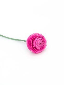 smuk pink ranunkel papirsblomst håndlavet med kærlighed i Ukraine