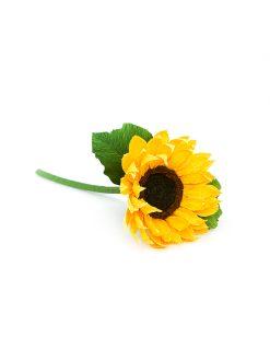 smuk gul solsikke papirsblomst håndlavet med kærlighed i Ukraine