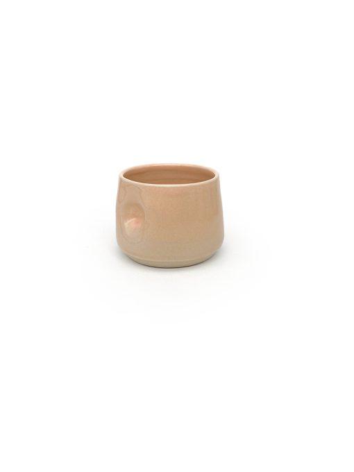 bulet Keramik kop i peach fra Arf Keramik