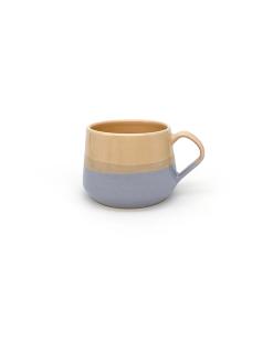 pastelfarvede keramik kopper med hank fra Arf Keramik i orange og lilla