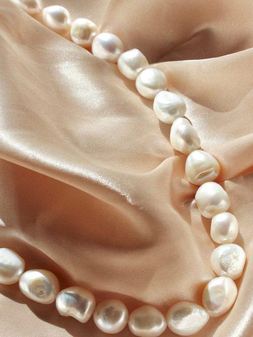 Lulo Jewelry perlehalskæde med store flotte ferskvandsperler hele vejen rundt